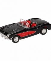 Speelgoed zwarte chevrolet corvette cabrio auto 12 cm trend