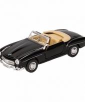 Speelgoed zwarte mercedes benz 190sl 1955 cabrio auto 15 cm trend