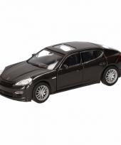 Speelgoed zwarte porsche panamera s auto 12 cm trend
