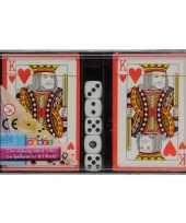 Speelkaarten met dobbelstenen set trend
