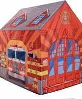 Speeltent speelhuis brandweer 102 cm trend