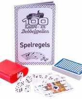 Spelletjes box 100 kaart en dobbelspellen trend