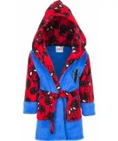 Spiderman badjas jongen blauw rood trend