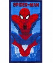 Spiderman badlaken 70 x 140 cm blauw trend