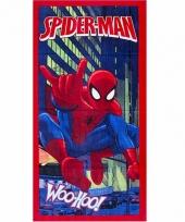 Spiderman badlaken 70 x 140 cm rood trend