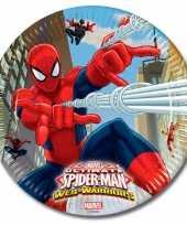 Spiderman bordjes van karton 23 cm trend 10145081