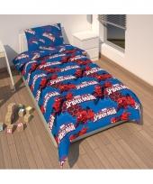 Spiderman dekbedovertrek jongens blauw 135 x 200 cm trend