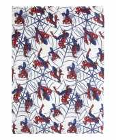 Spiderman flanellen fleecedeken plaid grijs 120 x 160 cm trend