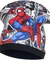 Spiderman fleece muts zwart voor jongens trend
