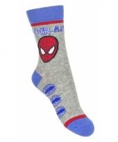 Spiderman jongens sokken grijs type 2 trend