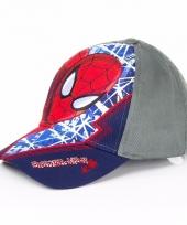 Spiderman kinderpetten navy blauw trend