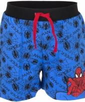 Spiderman korte broek blauw voor jongens trend