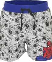 Spiderman korte broek grijs voor jongens trend