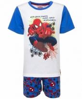 Spiderman korte pyjama wit blauw voor jongens trend