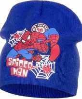 Spiderman muts blauw voor jongens trend