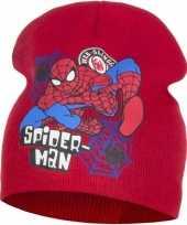 Spiderman muts rood voor jongens trend