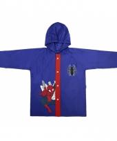 Spiderman regenjas blauw voor jongens trend