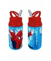 Spiderman schoolbeker rood trend