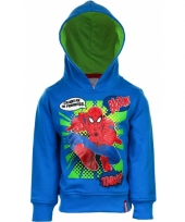 Spiderman sweater blauw trend