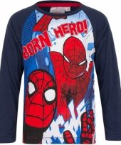 Spiderman t-shirt blauw trend