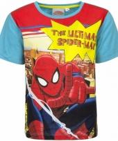 Spiderman t-shirt blauw voor jongens trend 10085731