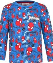 Spiderman t-shirt blauw voor jongens trend