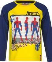 Spiderman t-shirt geel blauw voor jongens trend