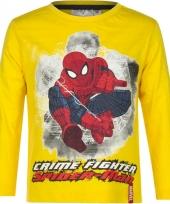 Spiderman t-shirt geel voor jongens trend
