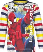 Spiderman t-shirt gestreept voor jongens trend