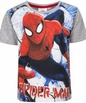 Spiderman t-shirt grijs voor jongens trend 10085730