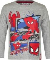 Spiderman t-shirt grijs voor jongens trend