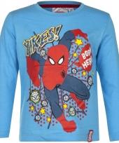 Spiderman t-shirt licht blauw voor jongens trend