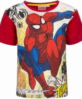 Spiderman t-shirt rood voor jongens trend