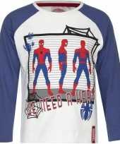 Spiderman t-shirt wit blauw voor jongens trend