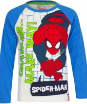 Spiderman t-shirt wit met blauw trend