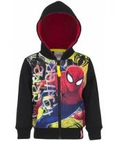 Spiderman vest zwart voor jongens trend