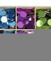 Spiegel mozaiek tegels kleuren 15 mm 300 stuks trend