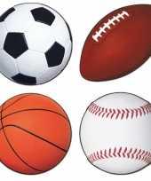 Sport feest decoratie 4 stuks trend