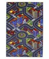 Stad speelkleed met gebouwen en wegen trend