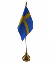 Standaard met vlaggetje zweden trend