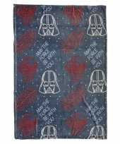 Star wars flanellen fleecedeken plaid grijs 120 x 160 cm trend