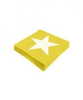 Ster servetten geel 20 stuks trend