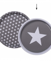 Sterprint dienbladen grijs 28 cm trend