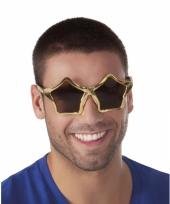 Stervormige zonnebril goud trend