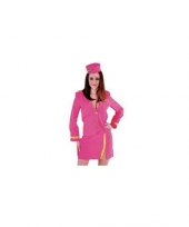 Stewardesse kostuum roze dames trend