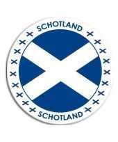 Sticker met schotse vlag trend