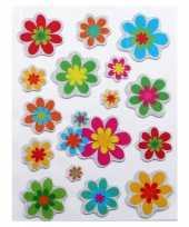 Stickers bloemen 16 stuks trend