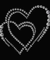 Stickers strass dubbel hart trend