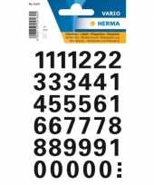 Stickervel cijfers zwart 15 mm 36x trend