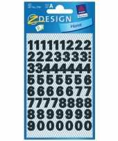 Stickervel cijfers zwart 9 mm 244 stuks trend